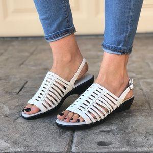 Multiple Strip Straps Comfortable Slingback Sandal